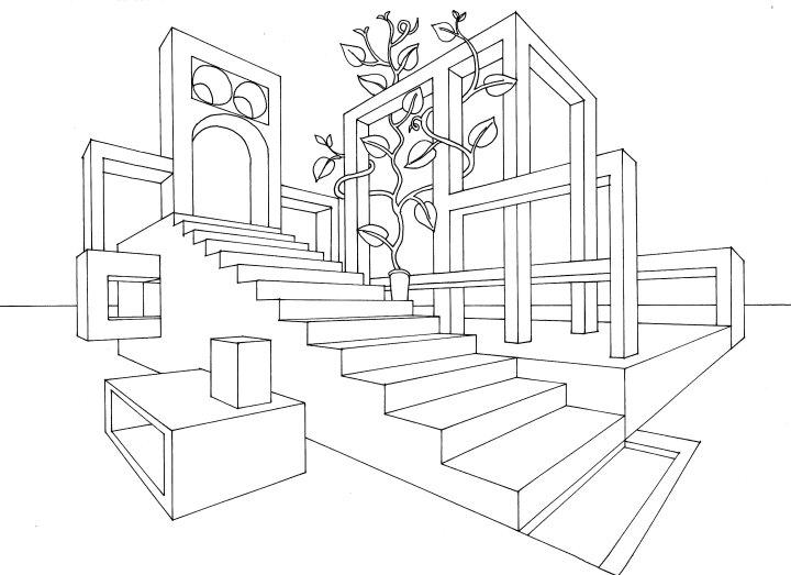 パースを使って室内空間を作る練習をしよう | 絵師 …